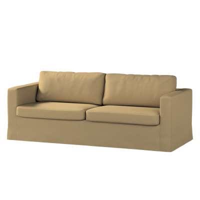 Pokrowiec na sofę Karlstad 3-osobową nierozkładaną, długi w kolekcji Living, tkanina: 161-50