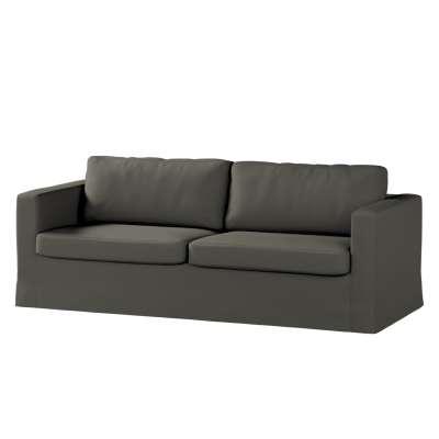 Pokrowiec na sofę Karlstad 3-osobową nierozkładaną, długi w kolekcji Living, tkanina: 161-55
