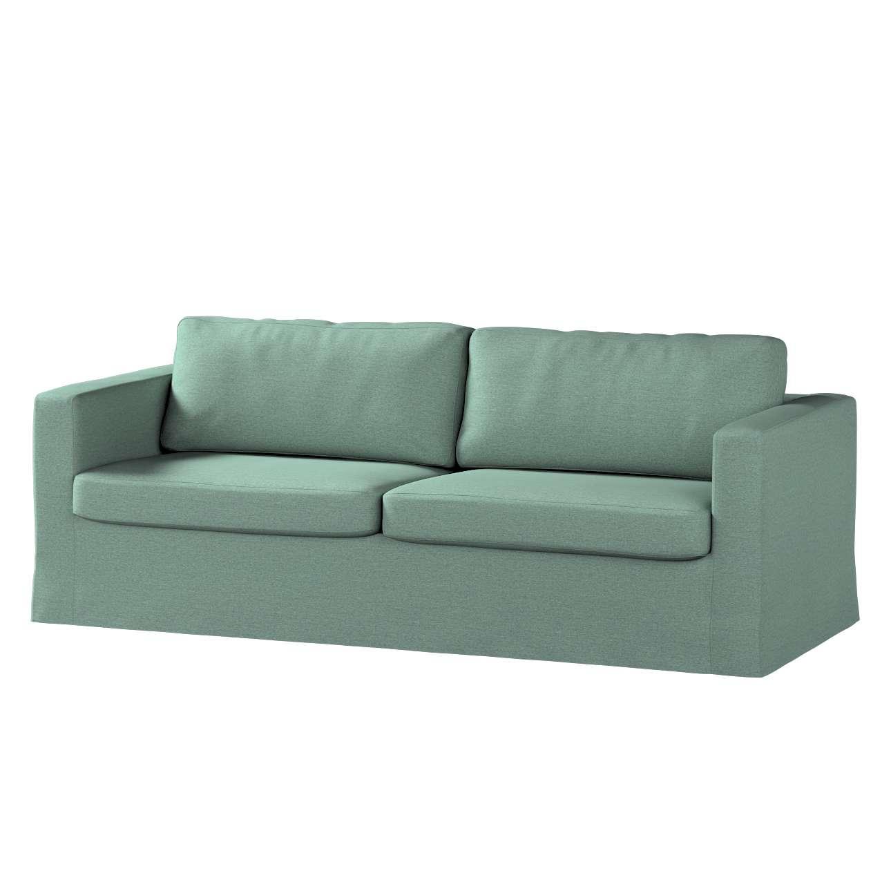 Pokrowiec na sofę Karlstad 3-osobową nierozkładaną, długi w kolekcji Madrid, tkanina: 161-89