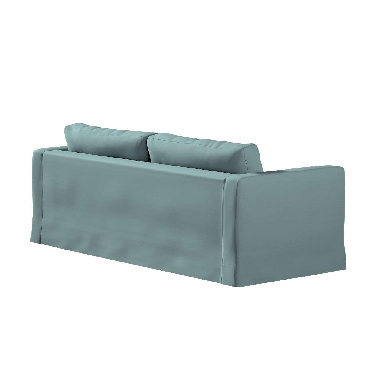 Pokrowiec na sofę Karlstad 3-osobową nierozkładaną, długi w kolekcji Cotton Panama, tkanina: 702-40