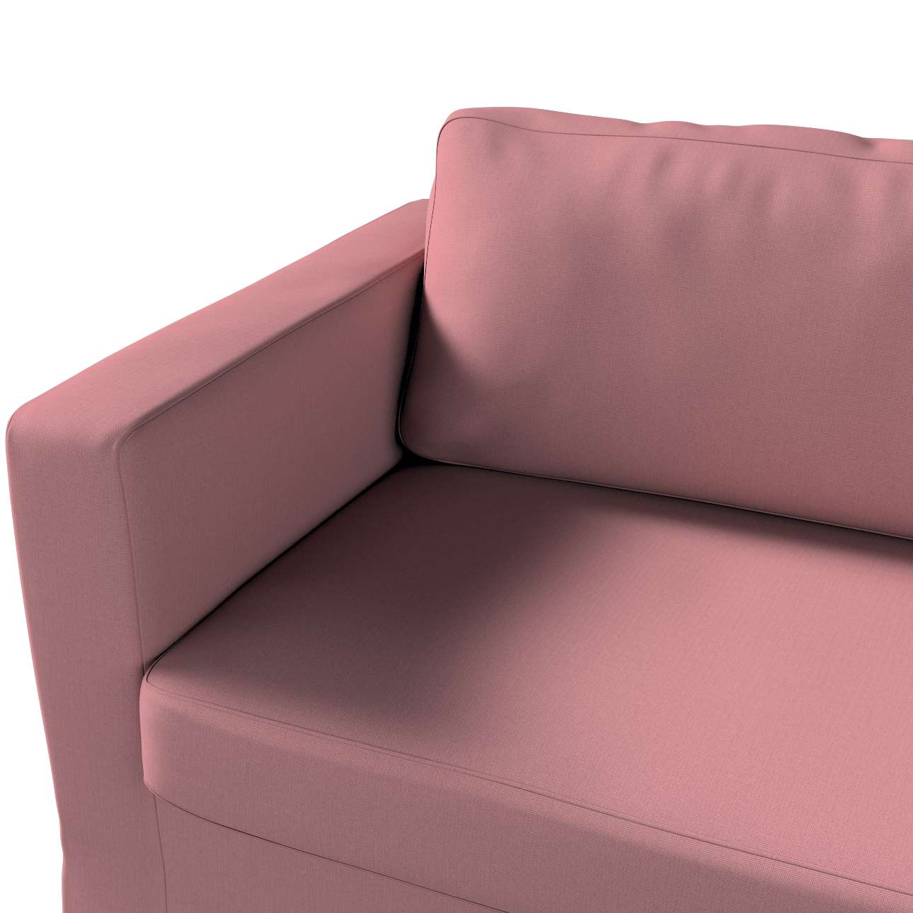 Pokrowiec na sofę Karlstad 3-osobową nierozkładaną, długi w kolekcji Cotton Panama, tkanina: 702-43
