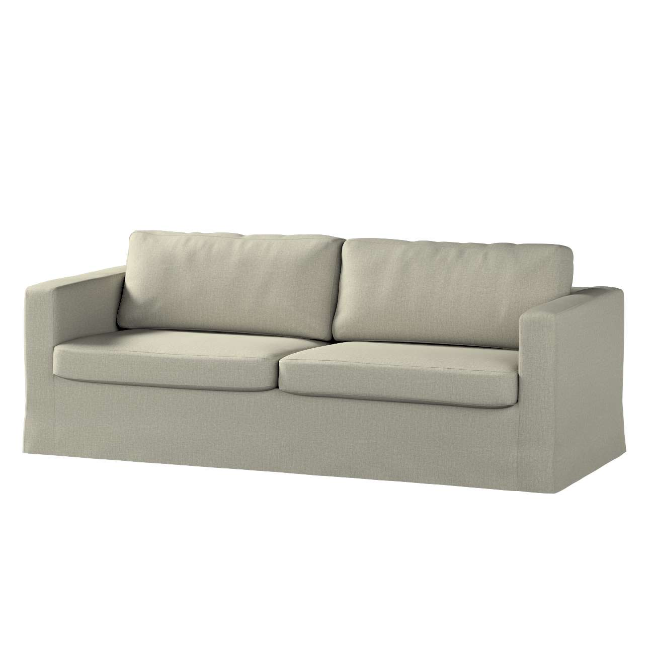 Pokrowiec na sofę Karlstad 3-osobową nierozkładaną, długi w kolekcji City, tkanina: 704-80