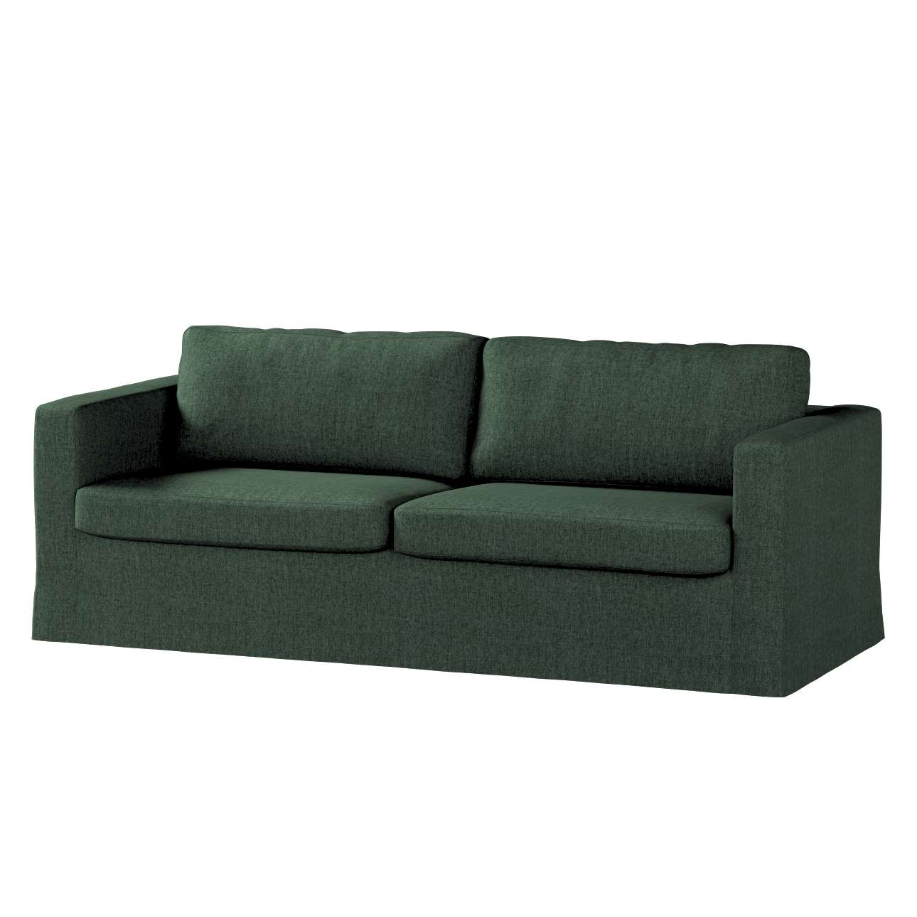 Pokrowiec na sofę Karlstad 3-osobową nierozkładaną, długi w kolekcji City, tkanina: 704-81