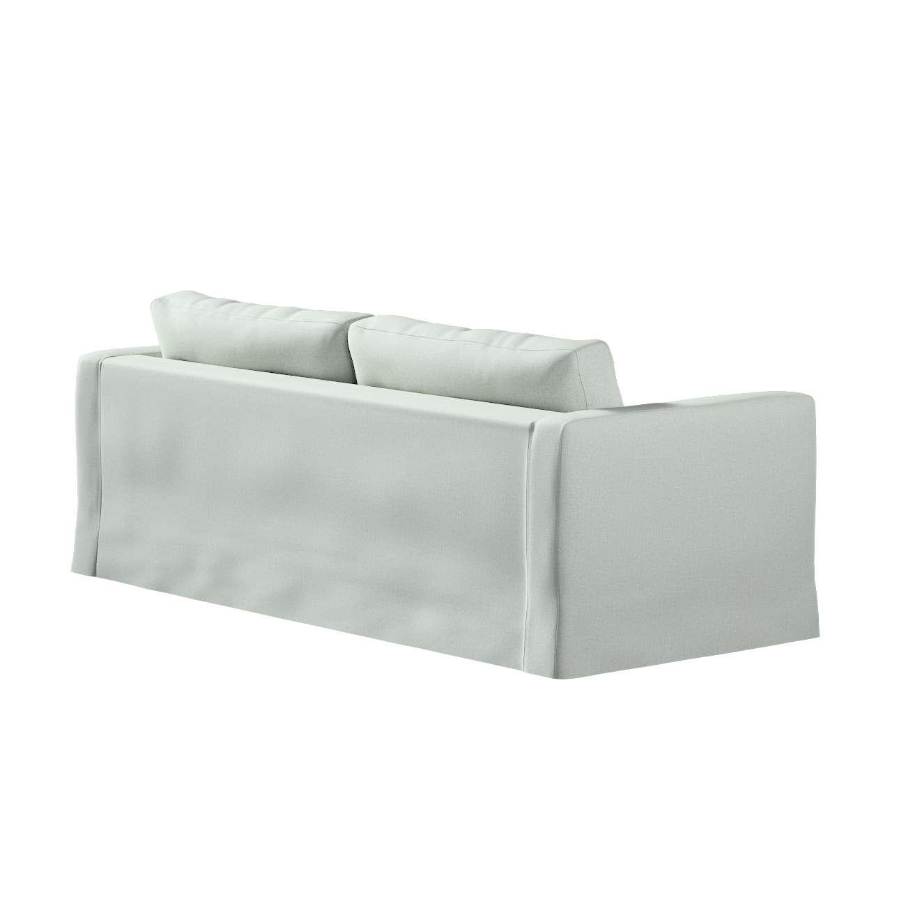 Pokrowiec na sofę Karlstad 3-osobową nierozkładaną, długi w kolekcji Living, tkanina: 161-41