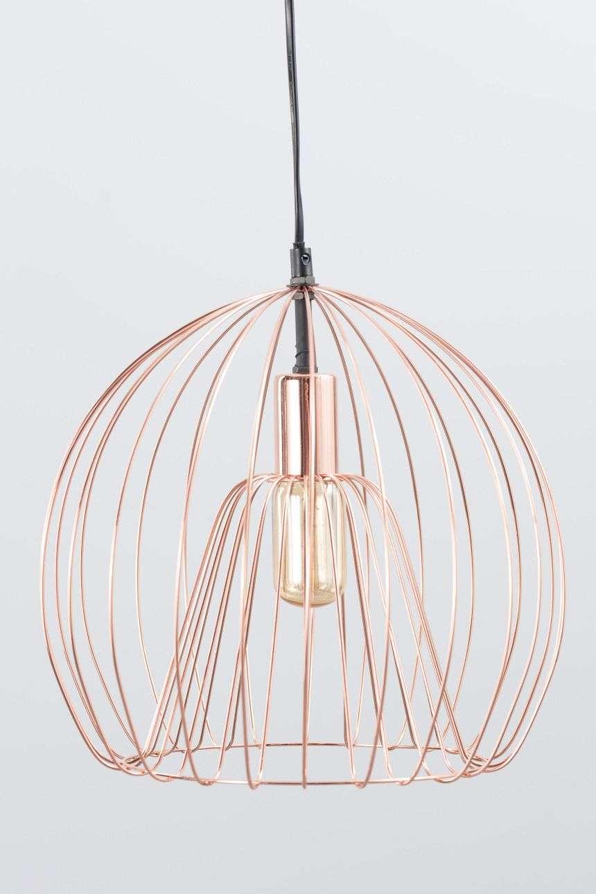 Dekoria Lampa wisząca Brooklyn Copper śr. 31cm
