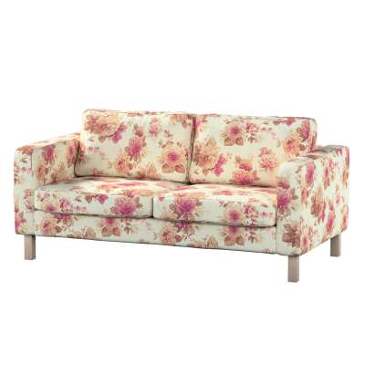 KARSLTAD dvivietės sofos užvalkalas 141-06 gėlės gelsvai  šviesiame fone Kolekcija Londres