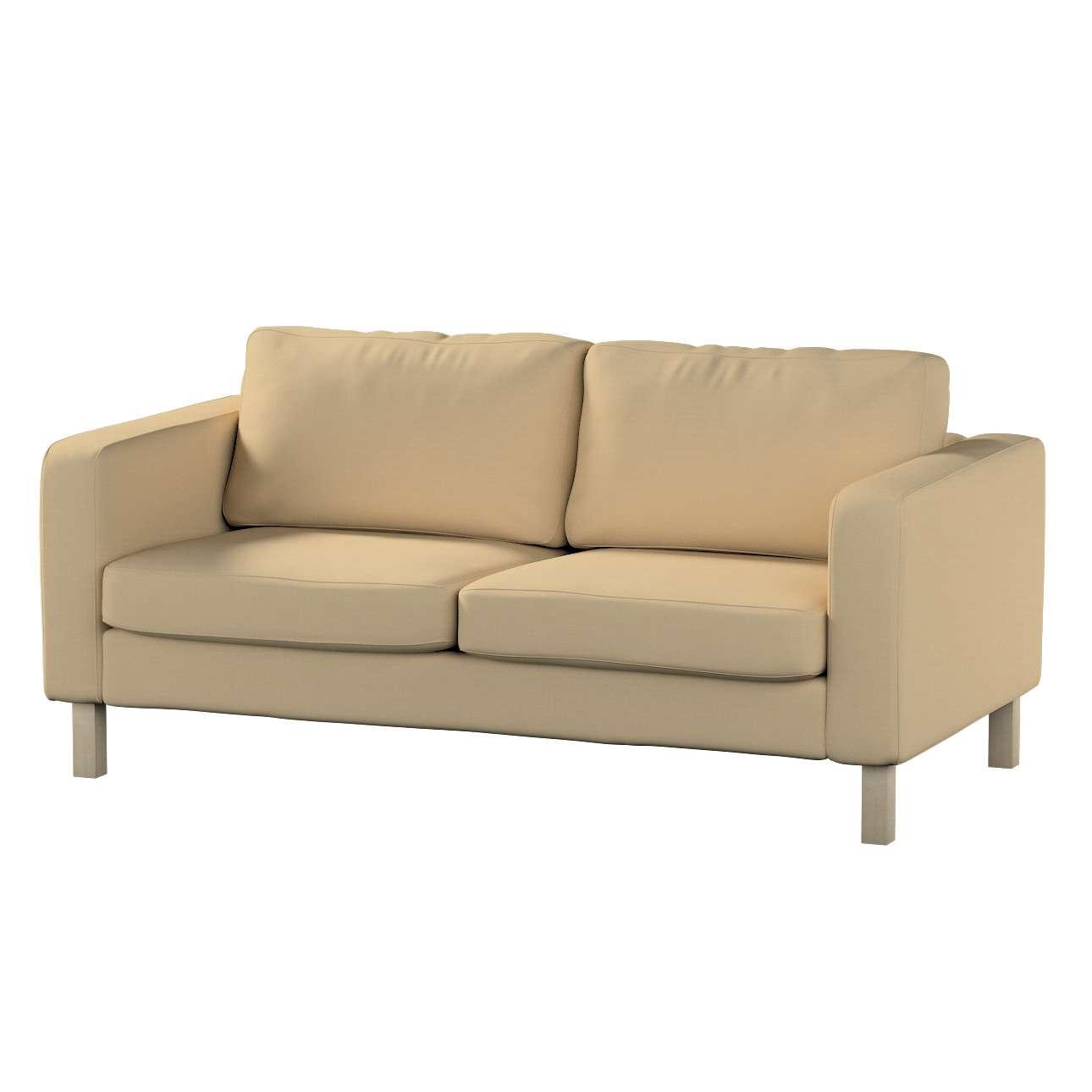 Pokrowiec na sofę Karlstad 2-osobową nierozkładaną krótki Sofa Karlstad 2-osobowa w kolekcji Cotton Panama, tkanina: 702-01