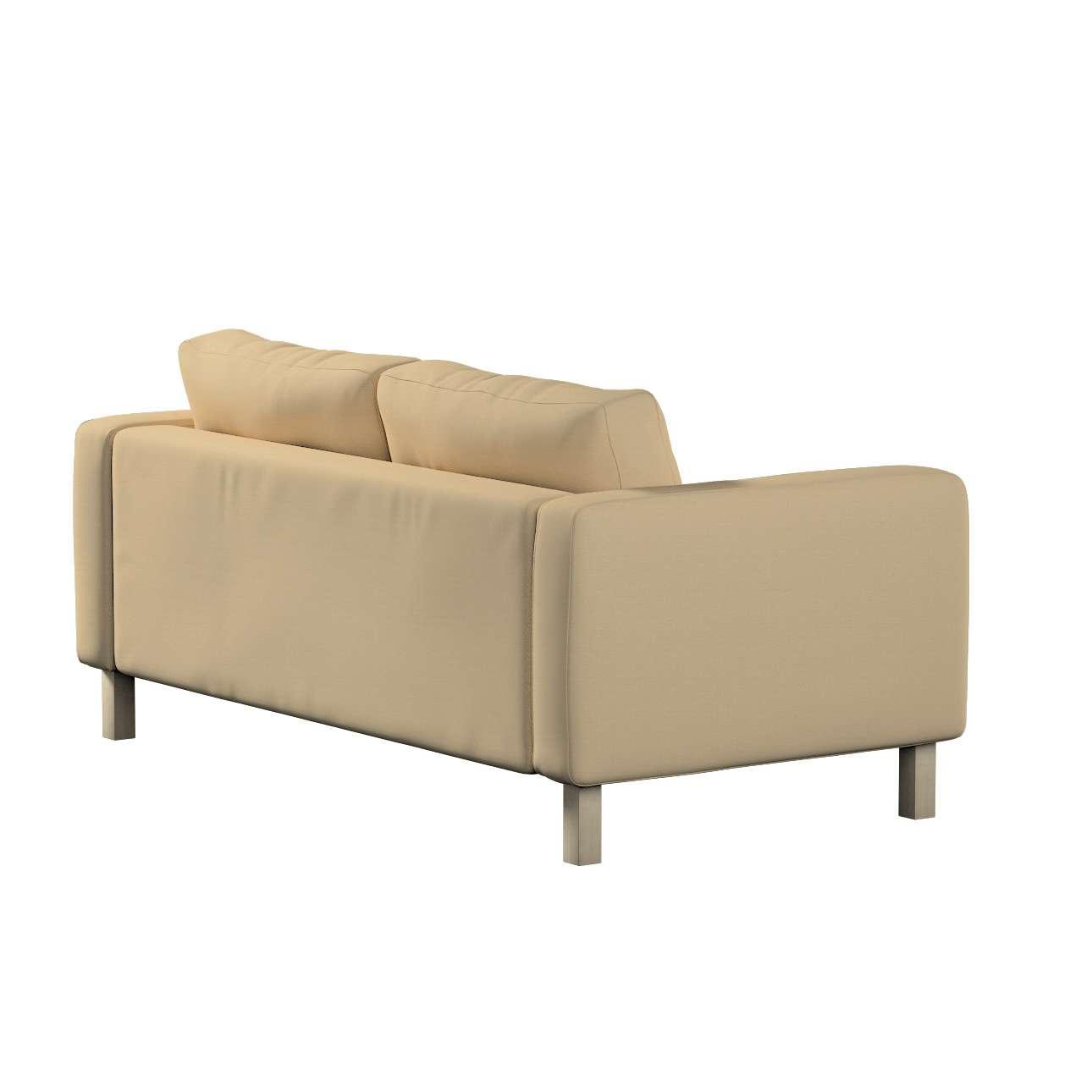 Pokrowiec na sofę Karlstad 2-osobową nierozkładaną krótki w kolekcji Cotton Panama, tkanina: 702-01