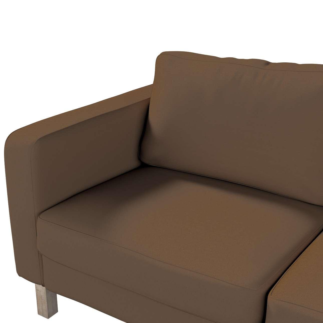 Pokrowiec na sofę Karlstad 2-osobową nierozkładaną krótki w kolekcji Cotton Panama, tkanina: 702-02