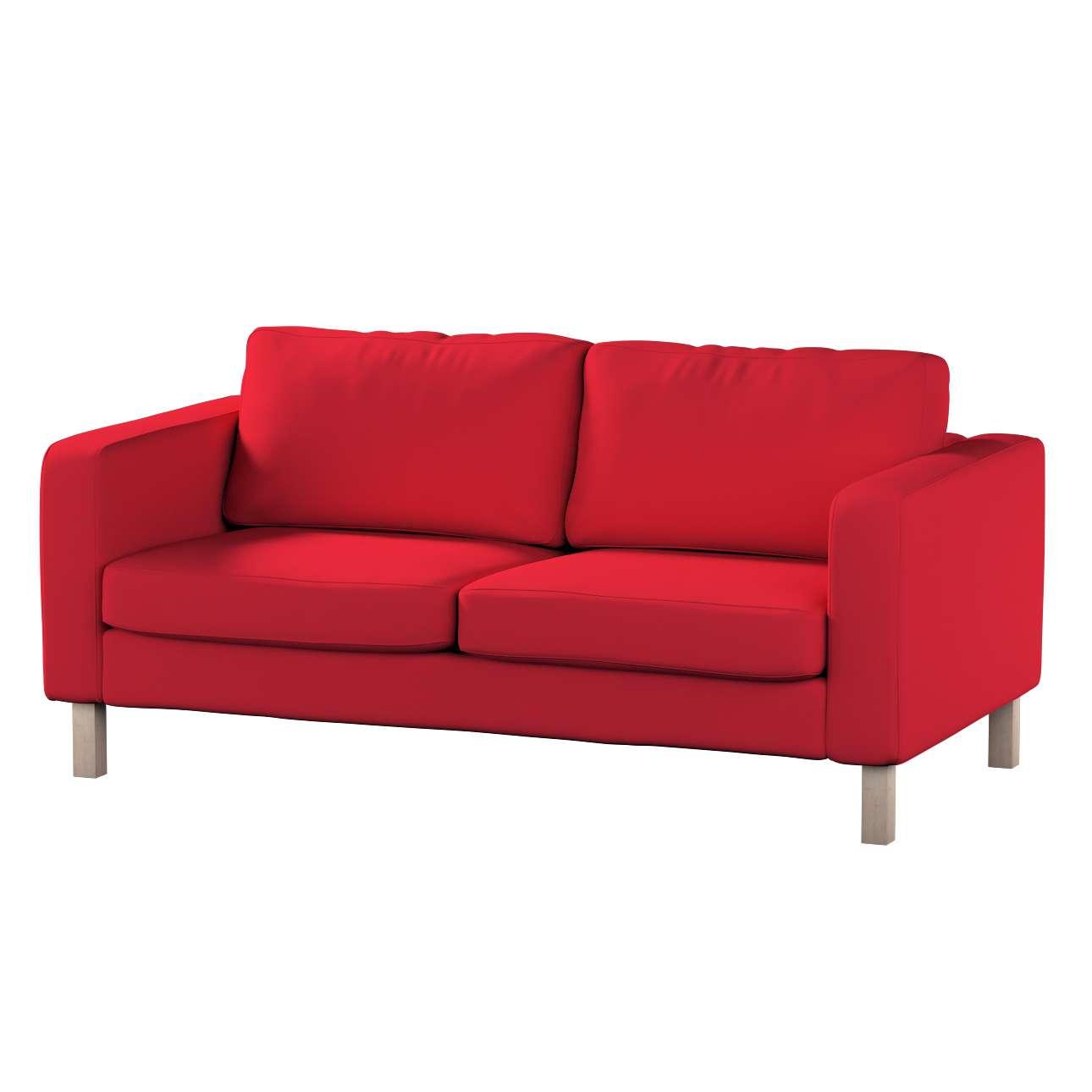 Karlstad 2-Sitzer Sofabezug nicht ausklappbar von der Kollektion Cotton Panama, Stoff: 702-04