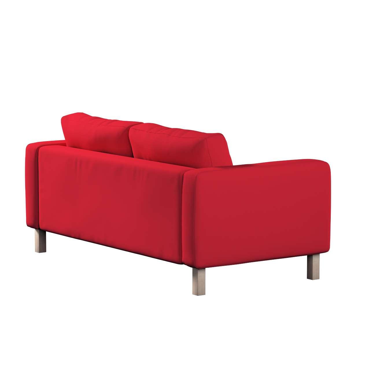Pokrowiec na sofę Karlstad 2-osobową nierozkładaną krótki w kolekcji Cotton Panama, tkanina: 702-04