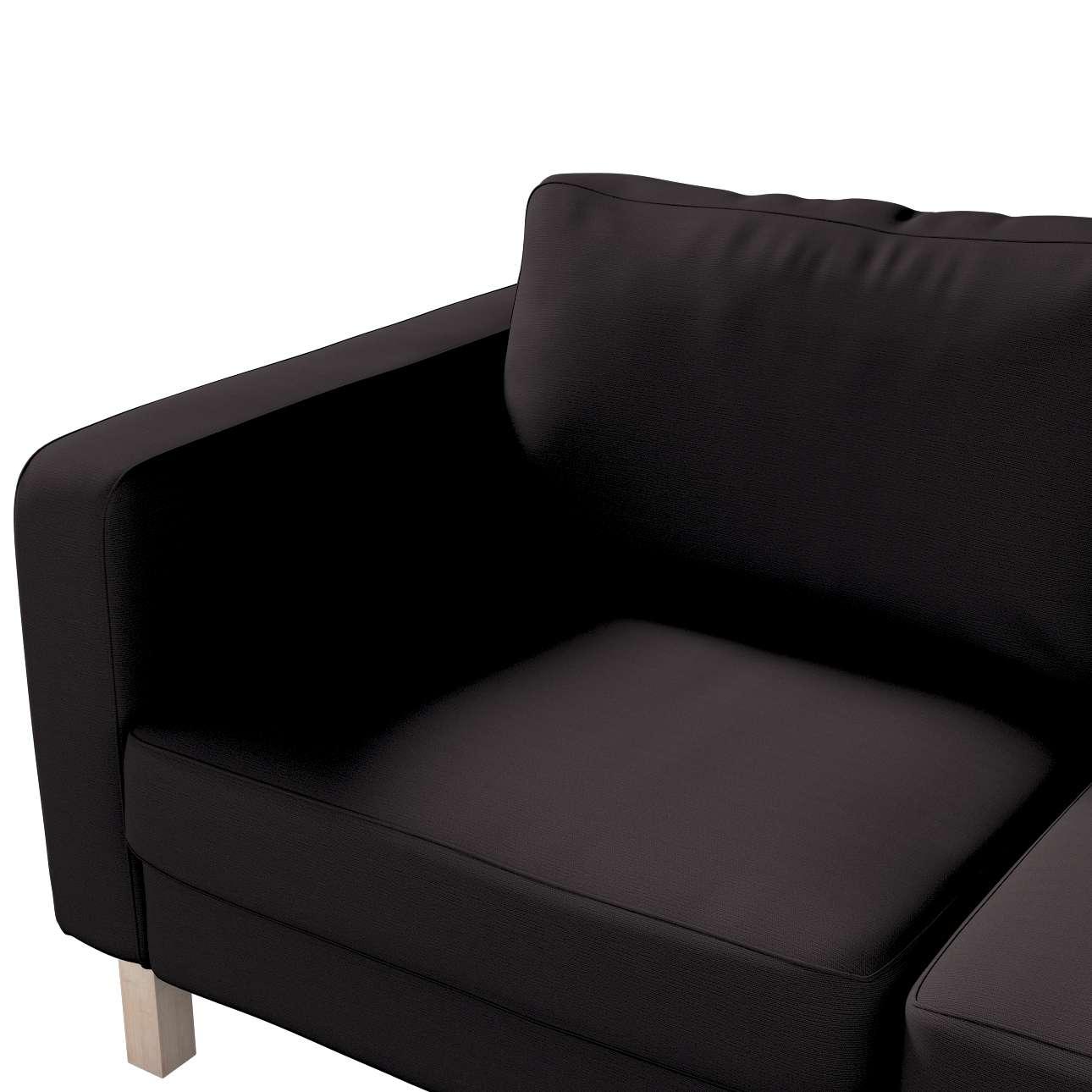Pokrowiec na sofę Karlstad 2-osobową nierozkładaną krótki w kolekcji Cotton Panama, tkanina: 702-08