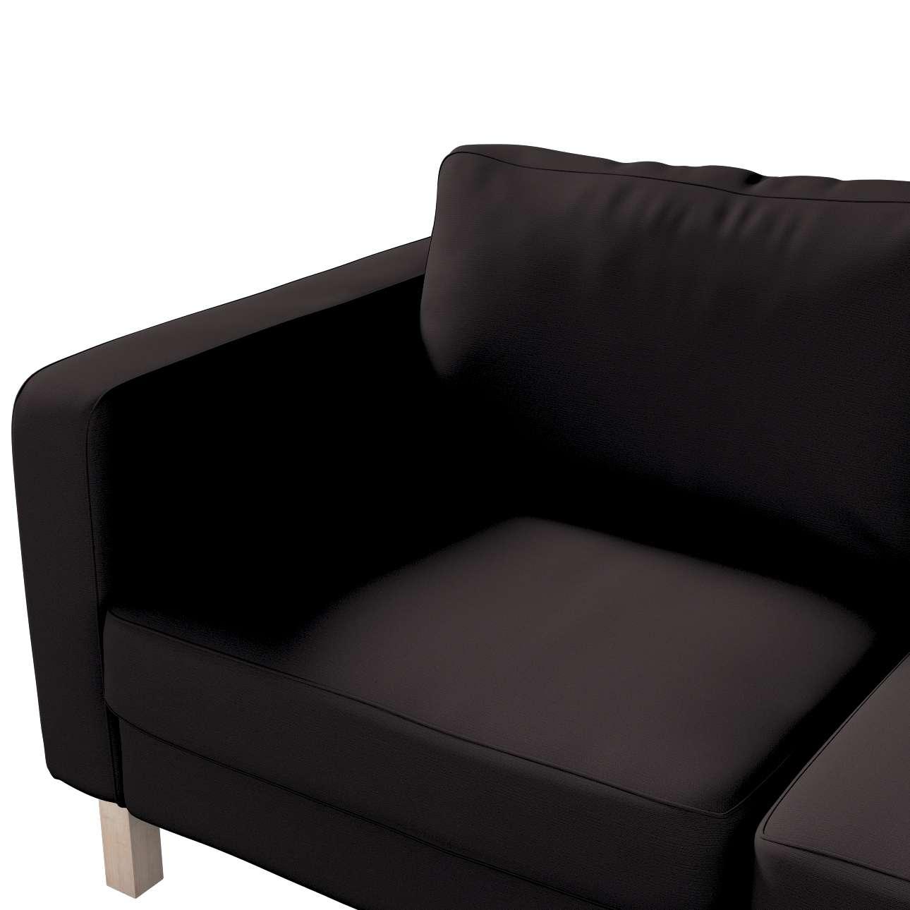 Pokrowiec na sofę Karlstad 2-osobową nierozkładaną krótki w kolekcji Cotton Panama, tkanina: 702-09