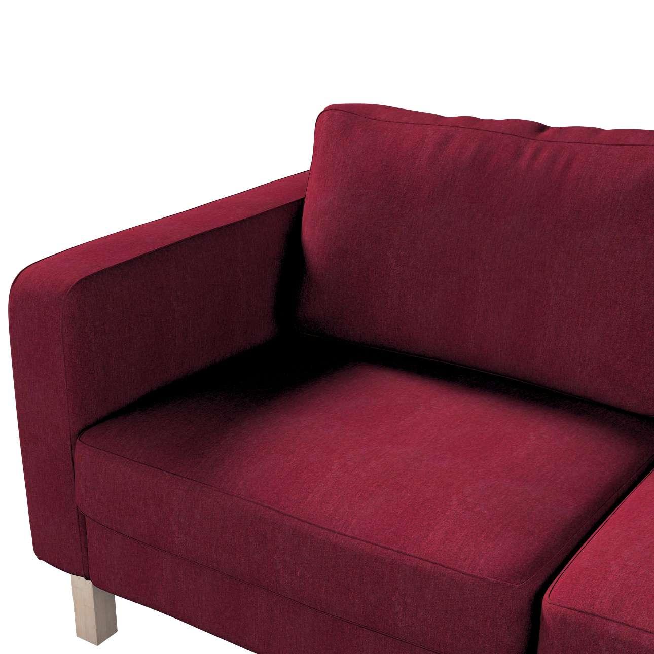 Pokrowiec na sofę Karlstad 2-osobową nierozkładaną krótki w kolekcji Chenille, tkanina: 702-19