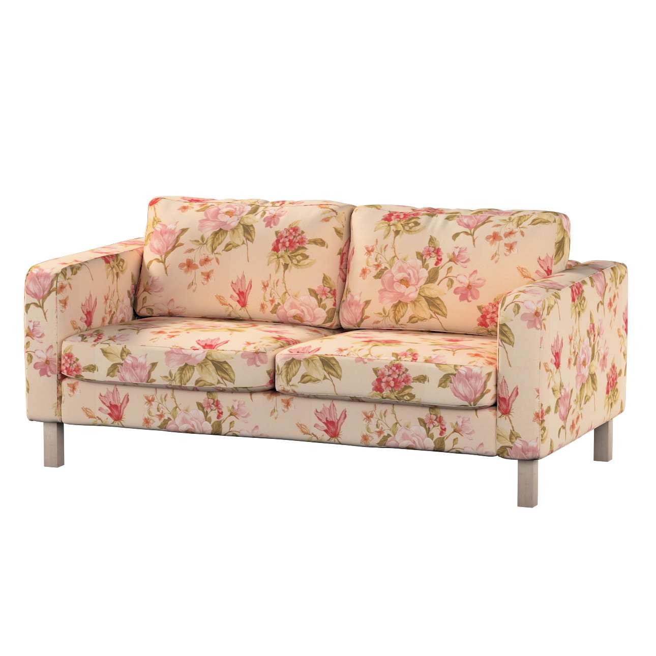 Pokrowiec na sofę Karlstad 2-osobową nierozkładaną krótki Sofa Karlstad 2-osobowa w kolekcji Londres, tkanina: 123-05