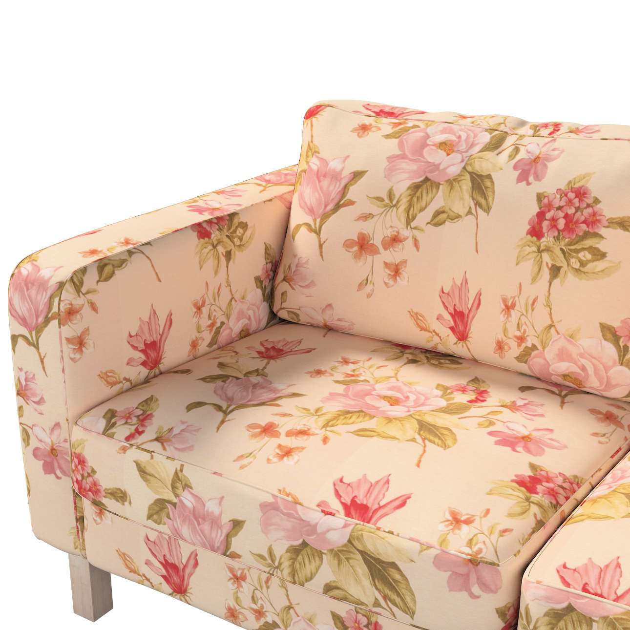Karlstad 2-seater sofa cover in collection Londres, fabric: 123-05