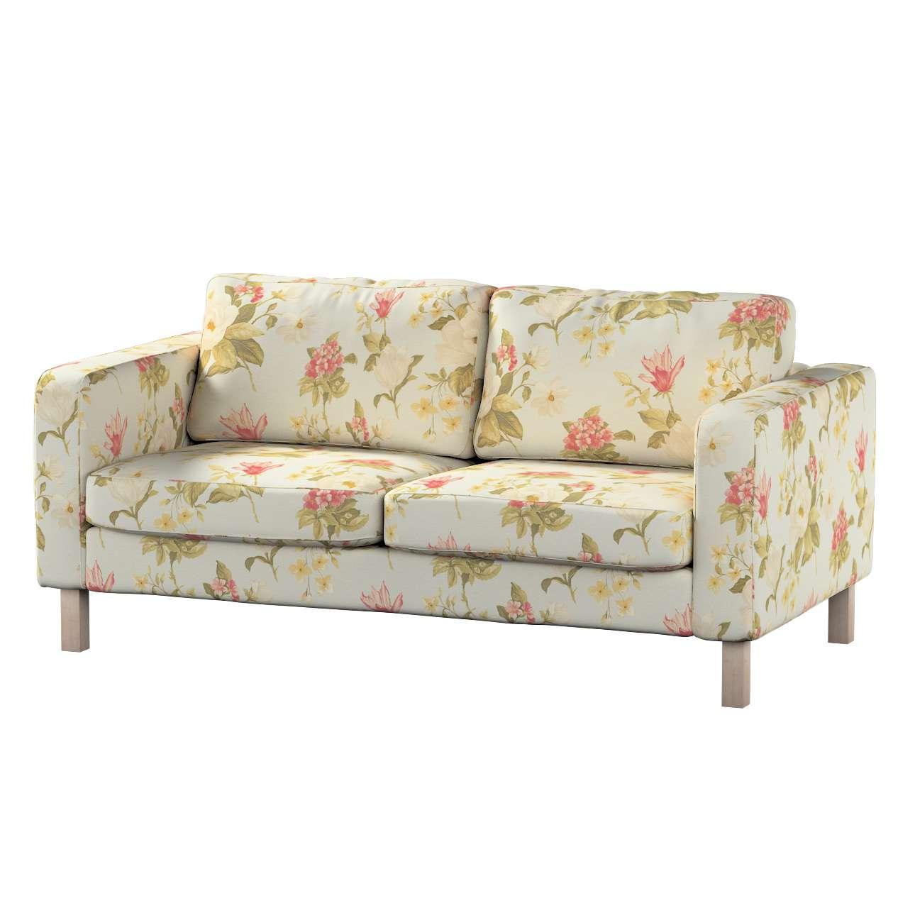 Pokrowiec na sofę Karlstad 2-osobową nierozkładaną krótki Sofa Karlstad 2-osobowa w kolekcji Londres, tkanina: 123-65