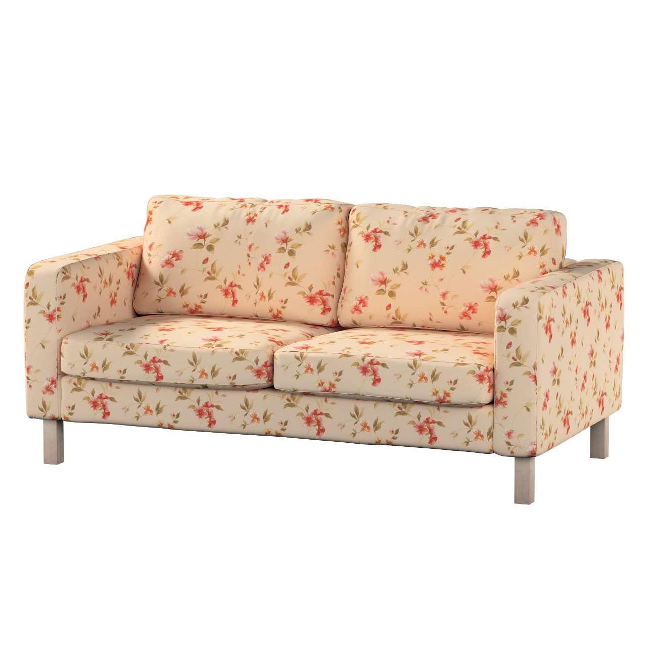 Pokrowiec na sofę Karlstad 2-osobową nierozkładaną krótki w kolekcji Londres, tkanina: 124-05