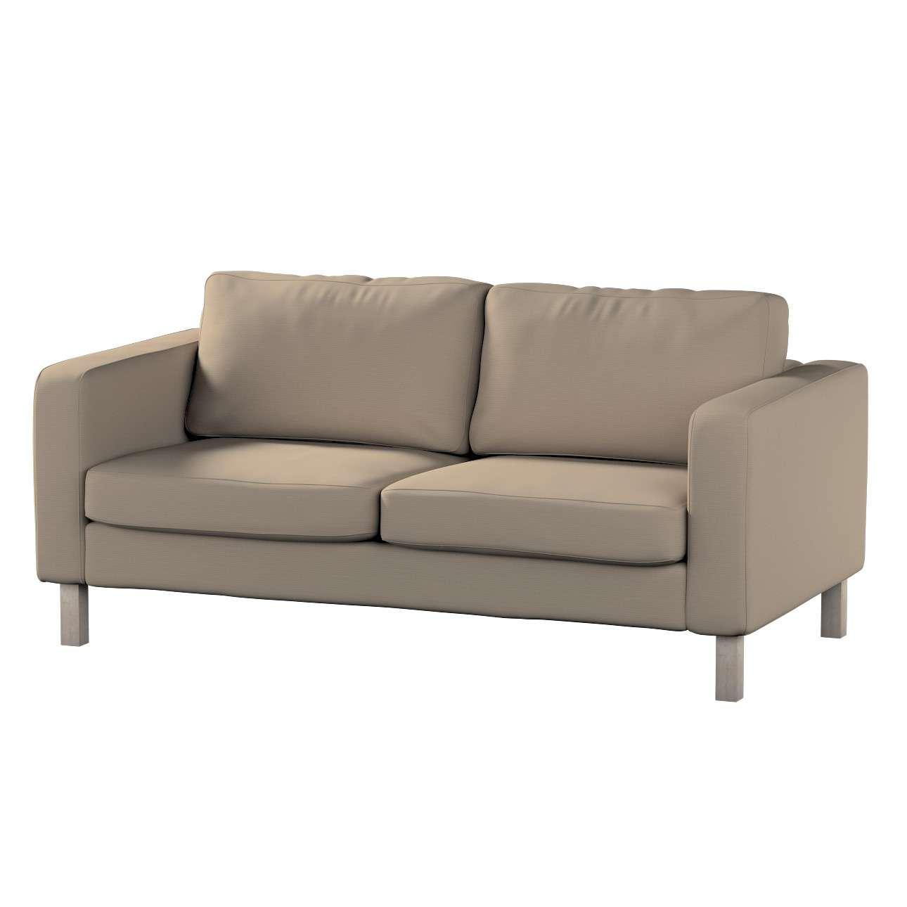 Pokrowiec na sofę Karlstad 2-osobową nierozkładaną krótki w kolekcji Cotton Panama, tkanina: 702-28