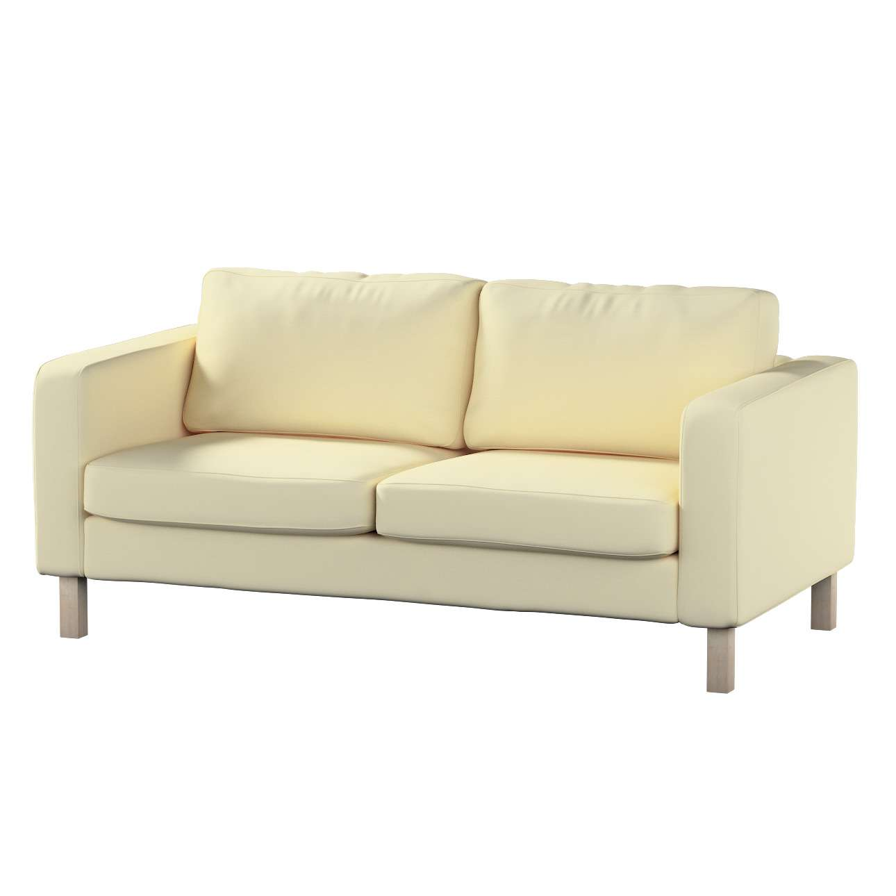 Karlstad 2-seater sofa cover in collection Panama Cotton, fabric: 702-29