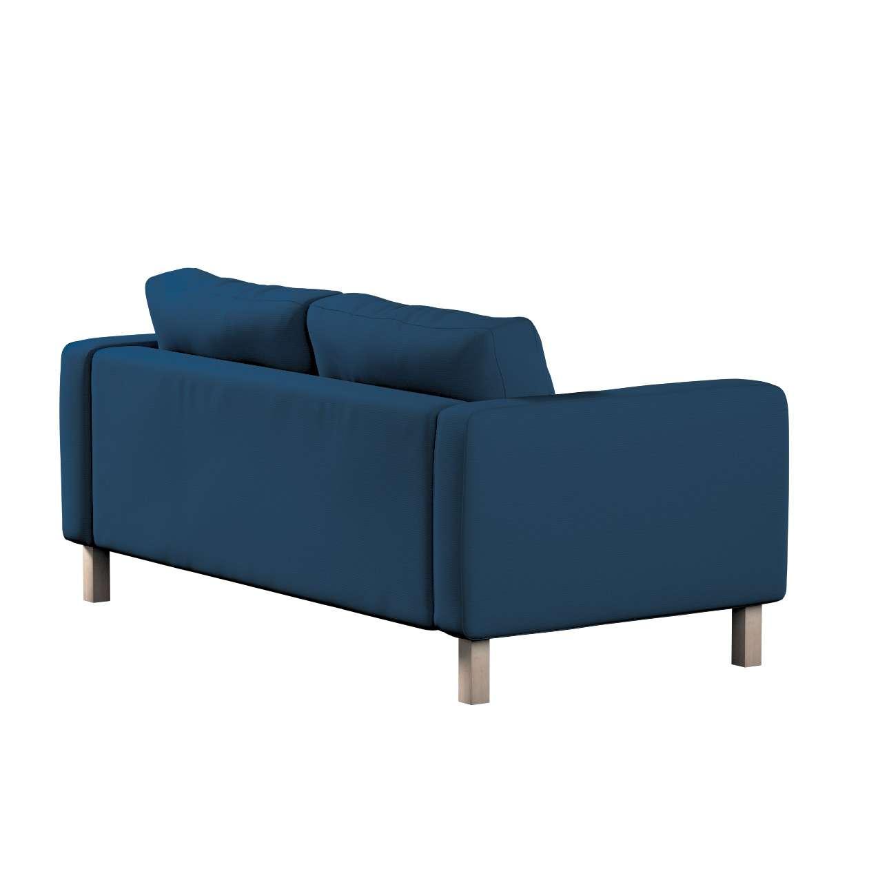 Pokrowiec na sofę Karlstad 2-osobową nierozkładaną krótki w kolekcji Cotton Panama, tkanina: 702-30