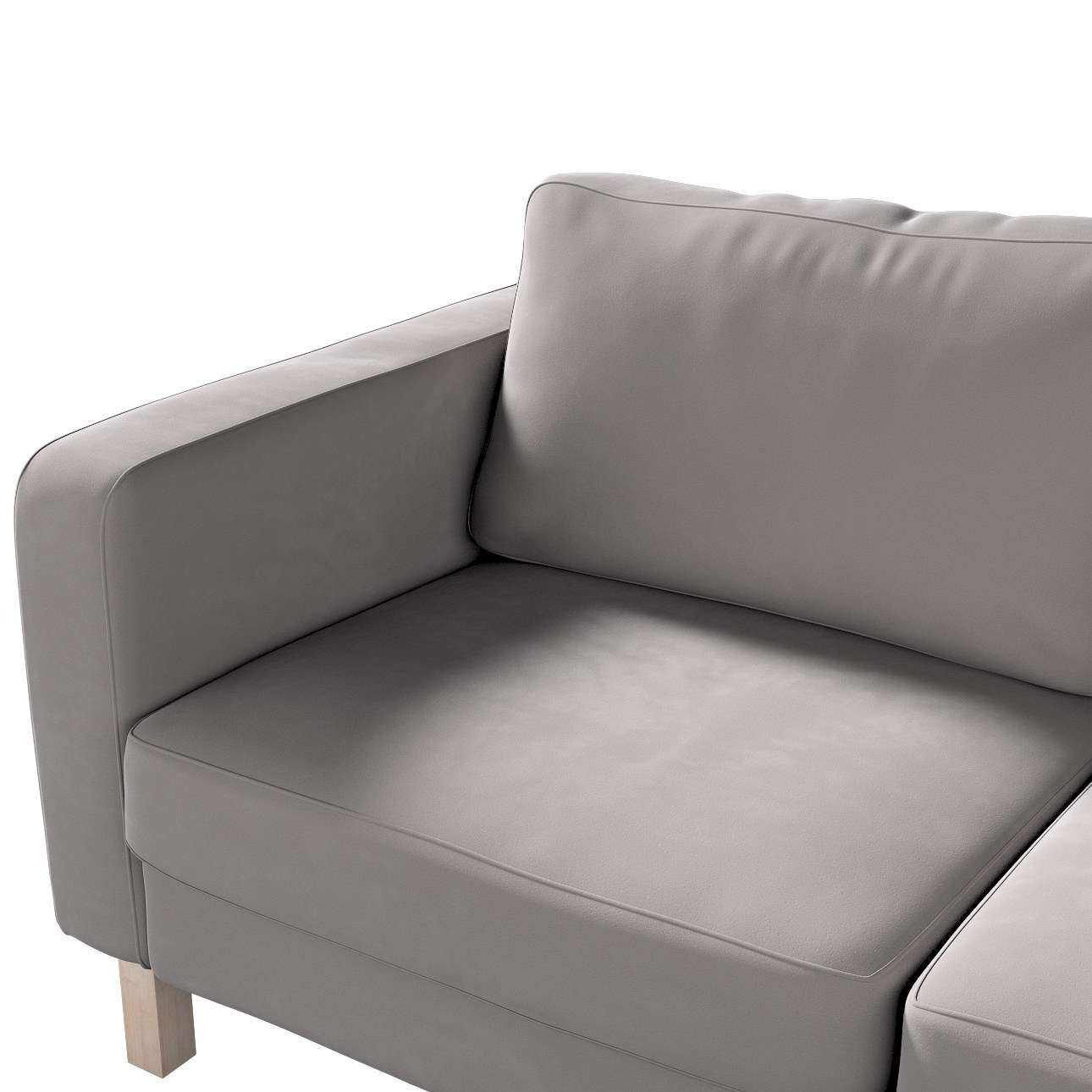 Karlstad 2-seater sofa cover in collection Velvet, fabric: 704-11
