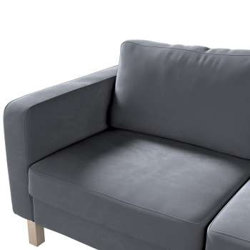 Karlstad 2-seater sofa cover in collection Velvet, fabric: 704-12