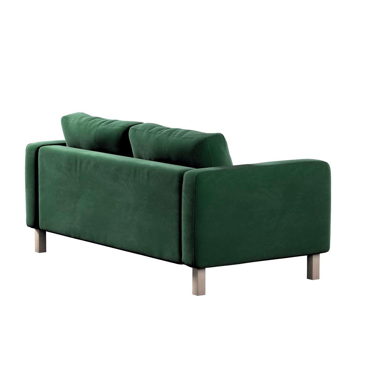 Pokrowiec na sofę Karlstad 2-osobową nierozkładaną krótki w kolekcji Velvet, tkanina: 704-13