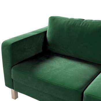Karlstad 2-seater sofa cover in collection Velvet, fabric: 704-13