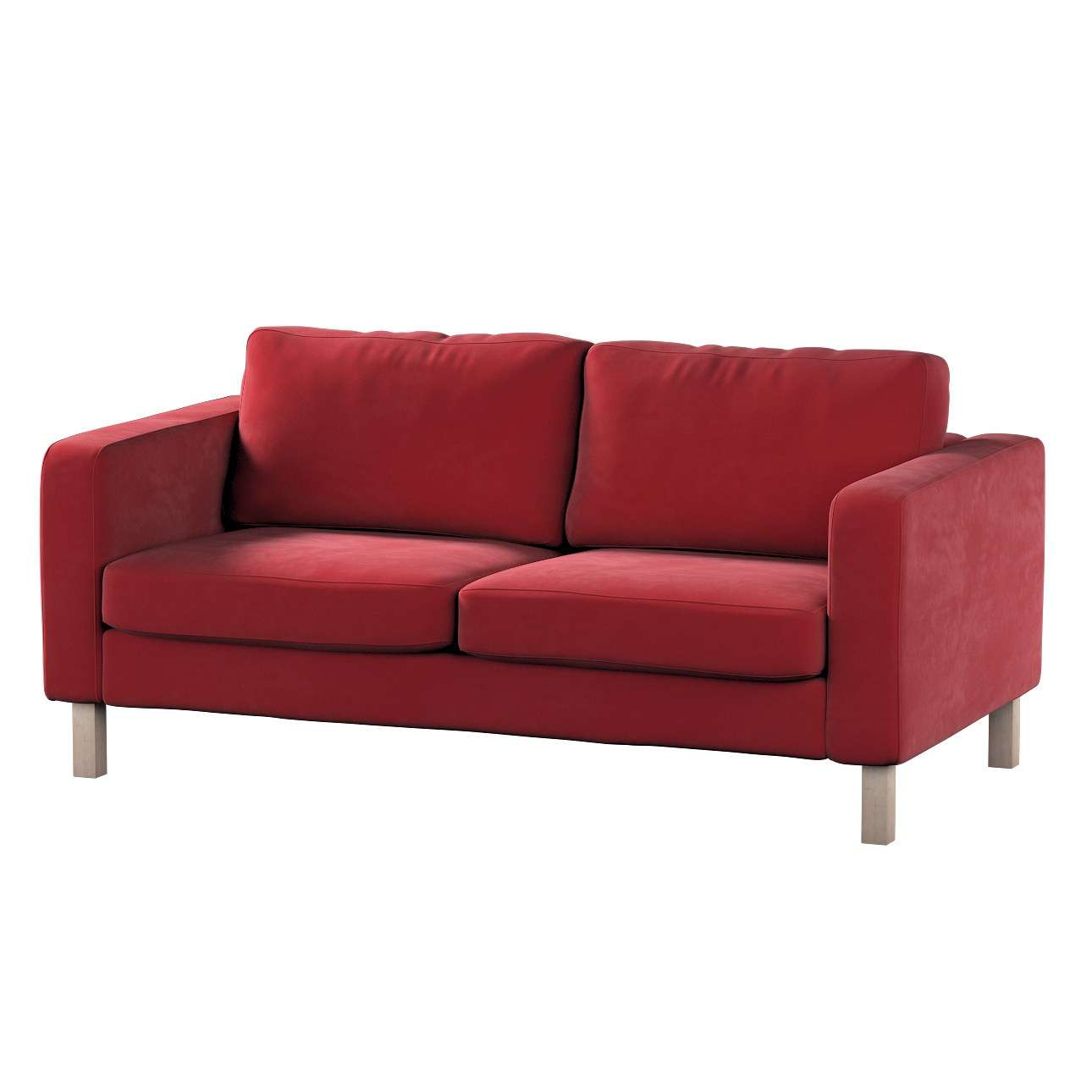 Karlstad 2-seater sofa cover in collection Velvet, fabric: 704-15