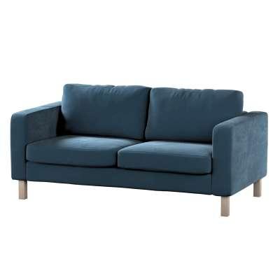 Pokrowiec na sofę Karlstad 2-osobową nierozkładaną krótki w kolekcji Velvet, tkanina: 704-16