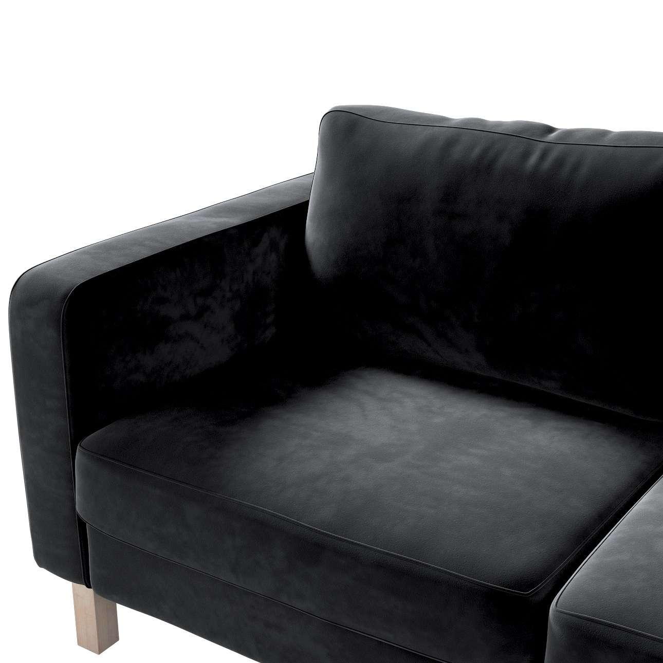 Pokrowiec na sofę Karlstad 2-osobową nierozkładaną krótki w kolekcji Velvet, tkanina: 704-17