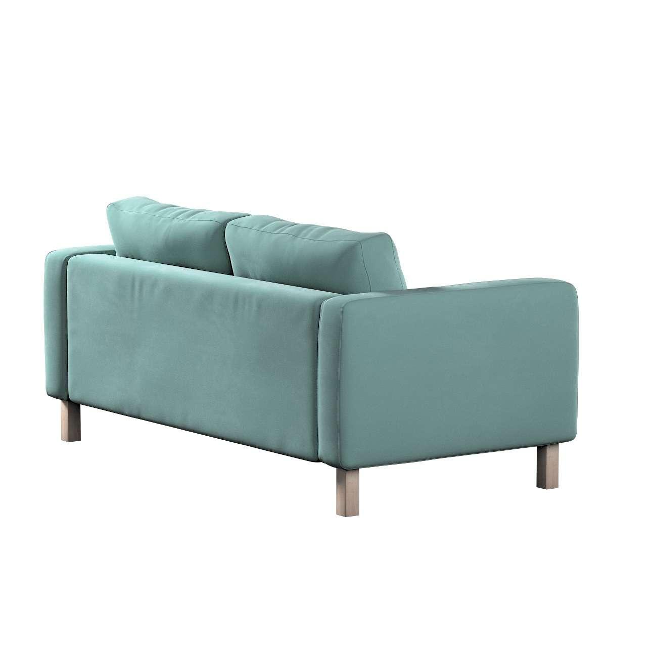 Pokrowiec na sofę Karlstad 2-osobową nierozkładaną krótki w kolekcji Velvet, tkanina: 704-18