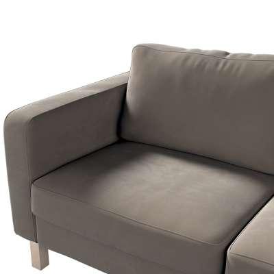 Pokrowiec na sofę Karlstad 2-osobową nierozkładaną krótki w kolekcji Velvet, tkanina: 704-19