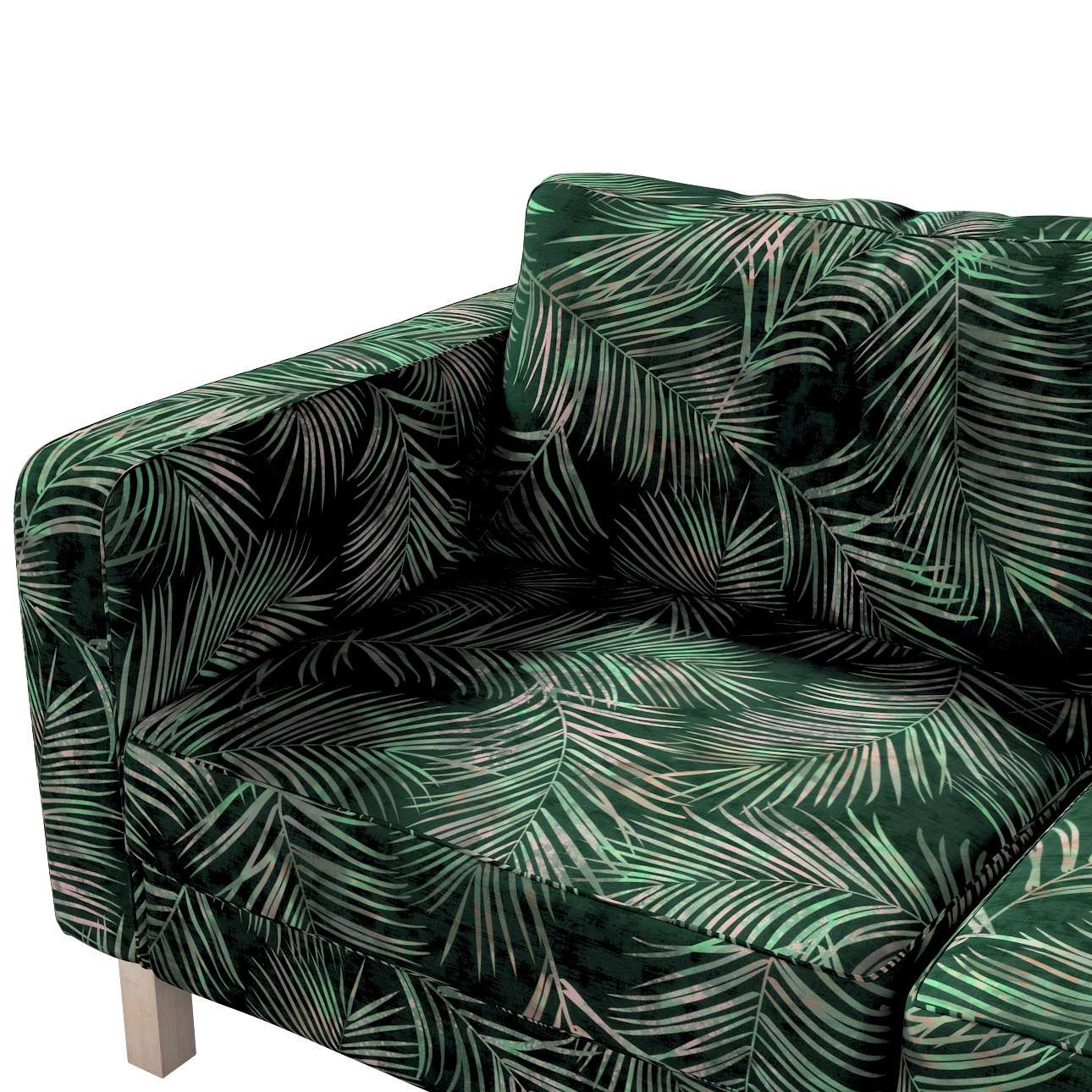 Karlstad 2-seater sofa cover in collection Velvet, fabric: 704-21