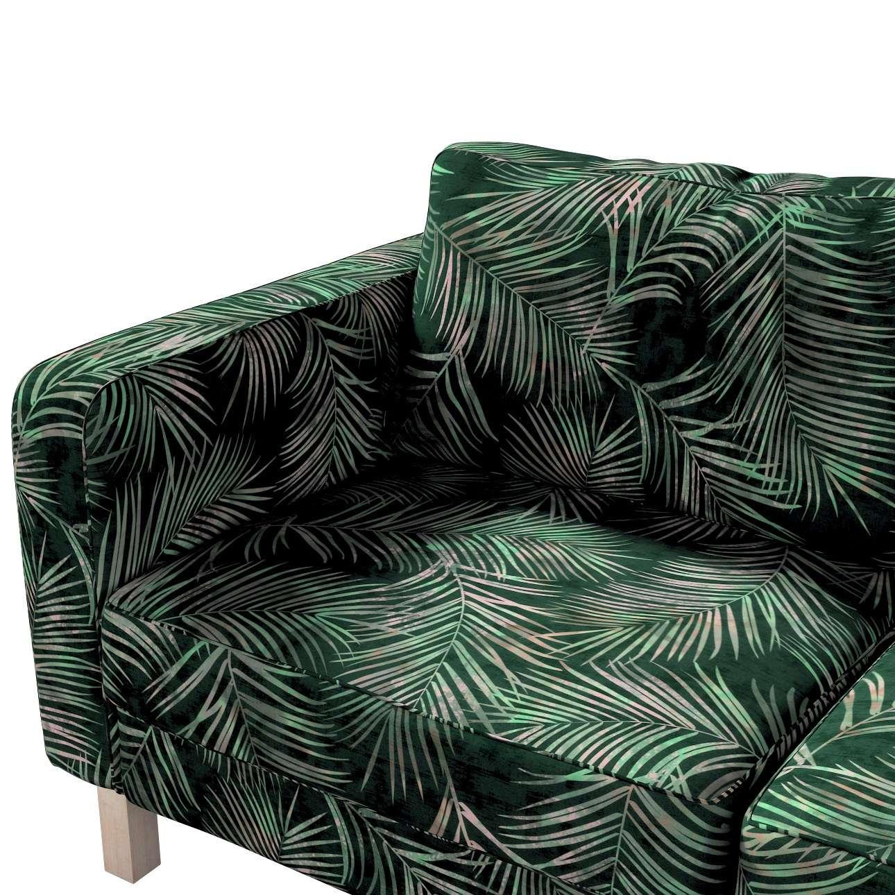 Pokrowiec na sofę Karlstad 2-osobową nierozkładaną krótki w kolekcji Velvet, tkanina: 704-21