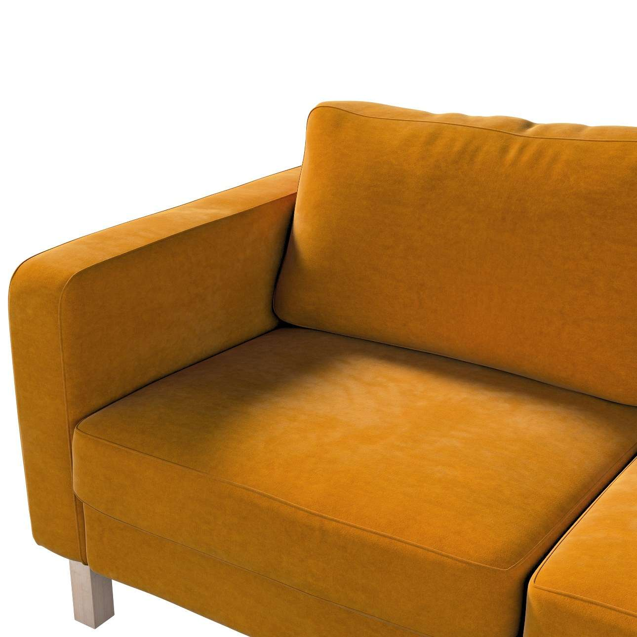Karlstad 2-seater sofa cover in collection Velvet, fabric: 704-23