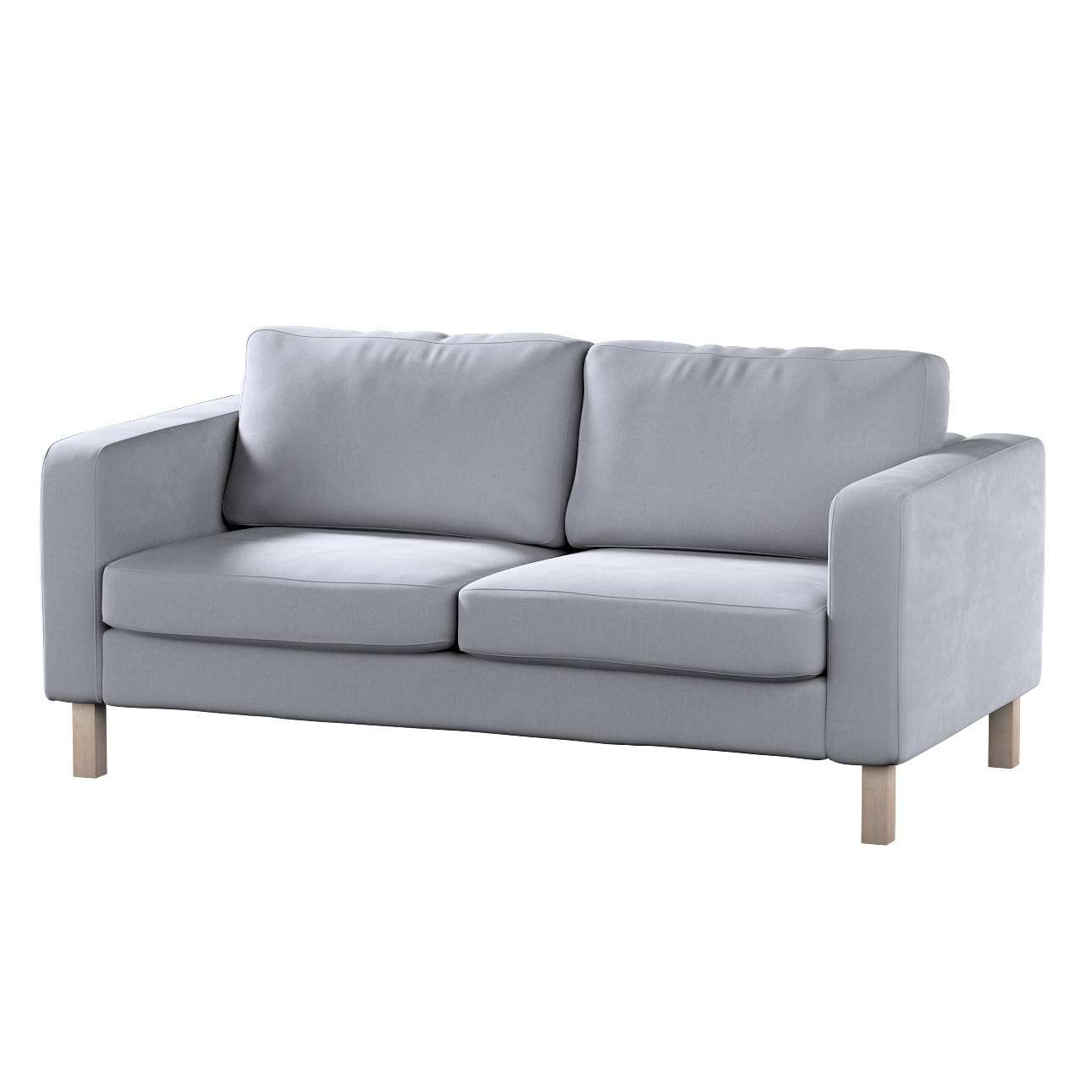 Karlstad 2-seater sofa cover in collection Velvet, fabric: 704-24