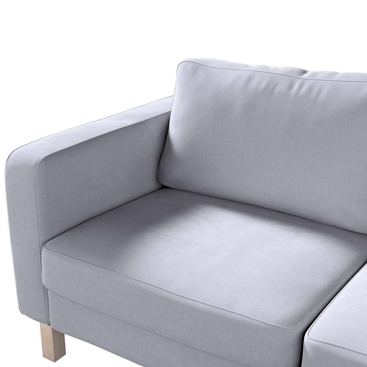 Pokrowiec na sofę Karlstad 2-osobową nierozkładaną krótki w kolekcji Velvet, tkanina: 704-24
