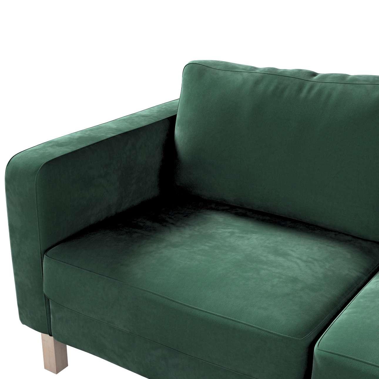 Pokrowiec na sofę Karlstad 2-osobową nierozkładaną krótki w kolekcji Velvet, tkanina: 704-25