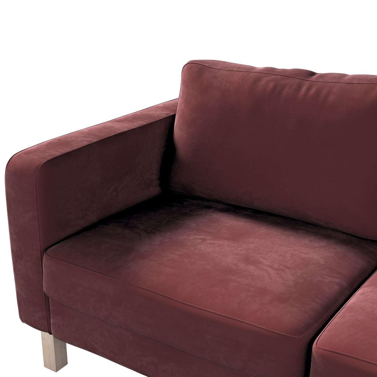 Pokrowiec na sofę Karlstad 2-osobową nierozkładaną krótki w kolekcji Velvet, tkanina: 704-26