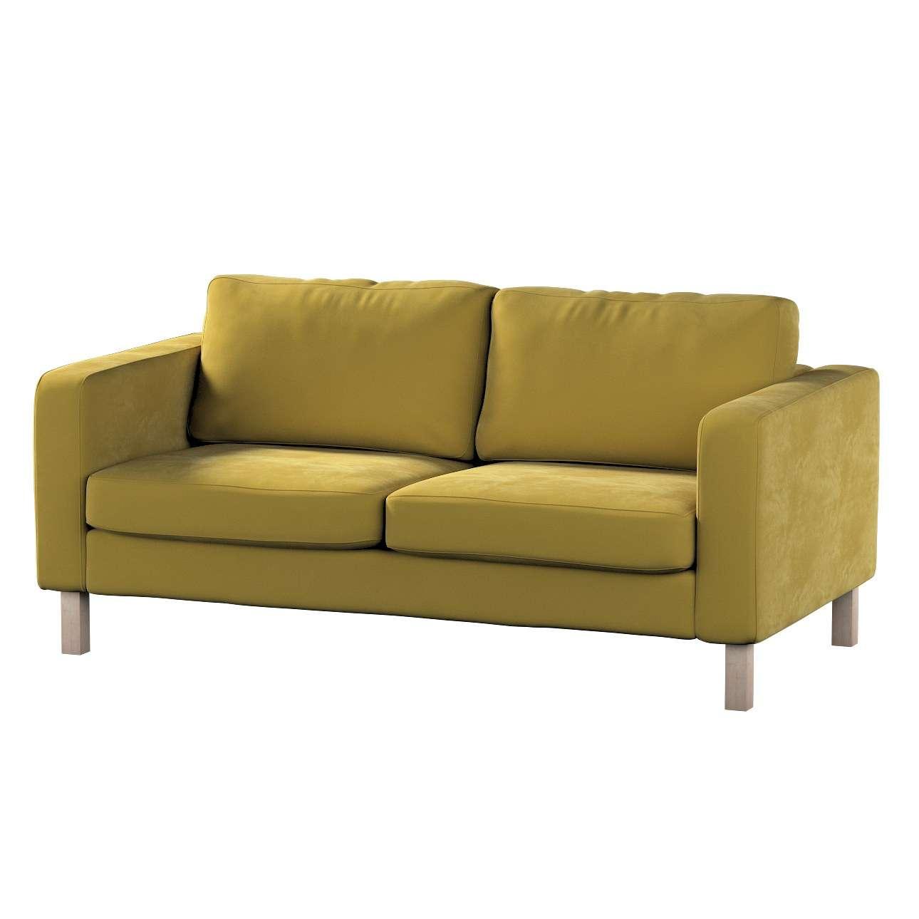 Pokrowiec na sofę Karlstad 2-osobową nierozkładaną krótki w kolekcji Velvet, tkanina: 704-27