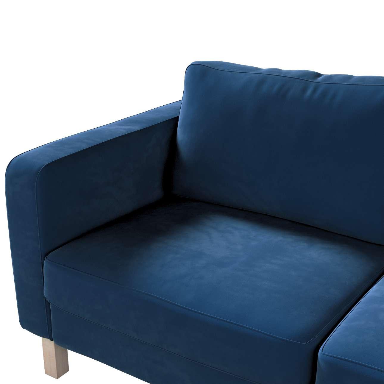 Pokrowiec na sofę Karlstad 2-osobową nierozkładaną krótki w kolekcji Velvet, tkanina: 704-29