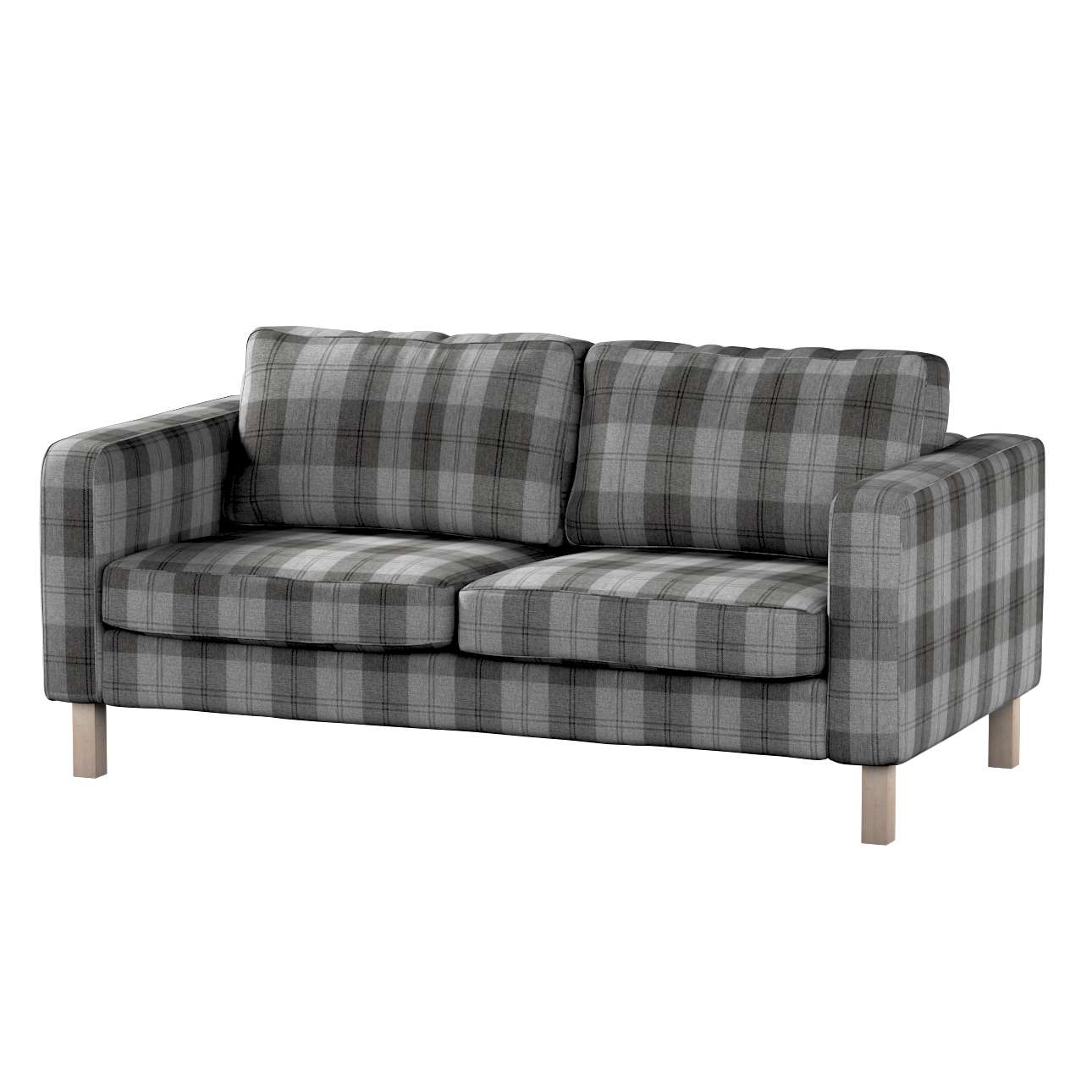 Pokrowiec na sofę Karlstad 2-osobową nierozkładaną krótki w kolekcji Edinburgh, tkanina: 115-75