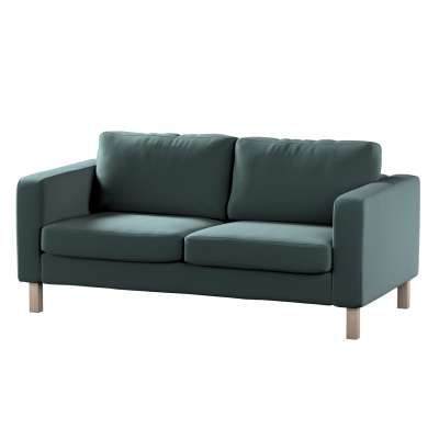 Pokrowiec na sofę Karlstad 2-osobową nierozkładaną krótki w kolekcji Ingrid, tkanina: 705-36