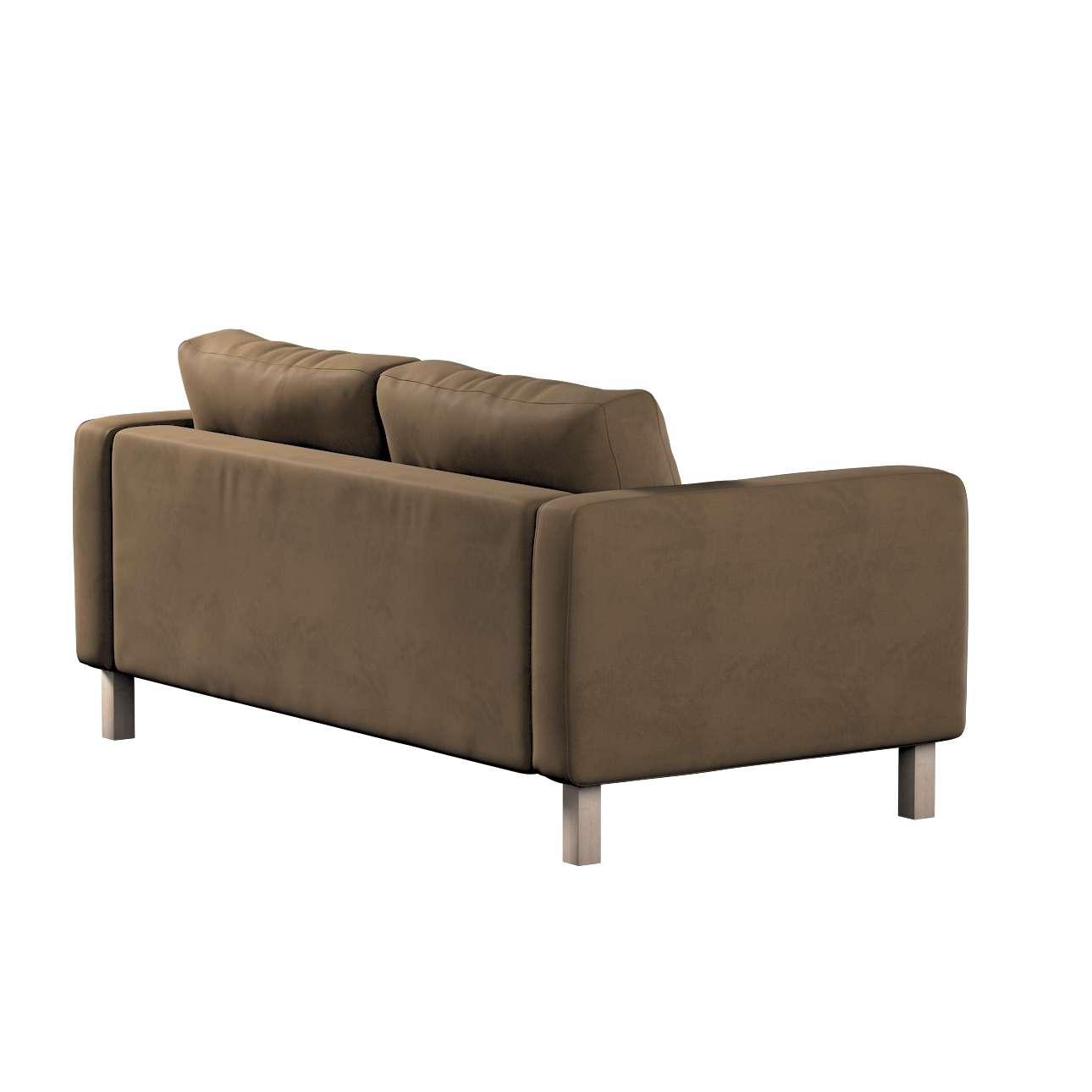 Pokrowiec na sofę Karlstad 2-osobową nierozkładaną krótki w kolekcji Living, tkanina: 160-94