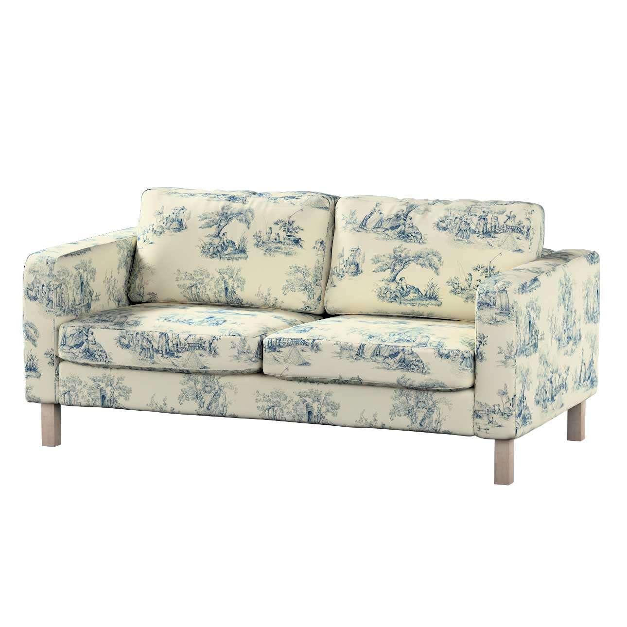 Karlstad 2-Sitzer Sofabezug nicht ausklappbar Sofahusse, Karlstad 2-Sitzer von der Kollektion Avinon, Stoff: 132-66