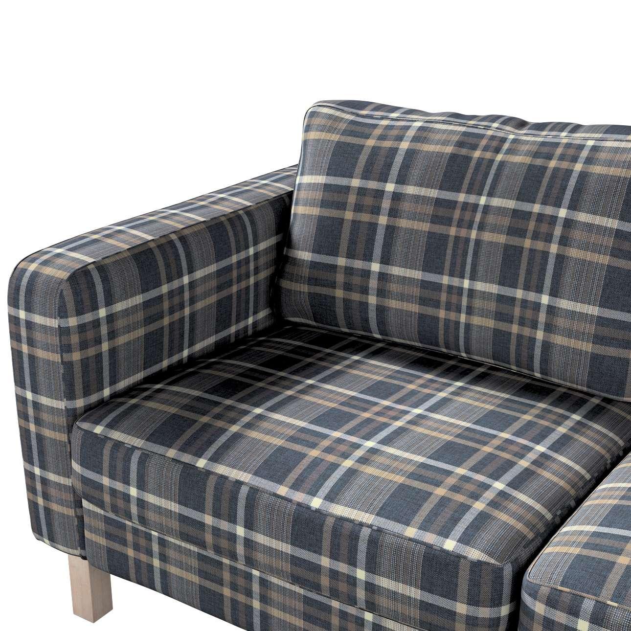Pokrowiec na sofę Karlstad 2-osobową nierozkładaną krótki w kolekcji Edinburgh, tkanina: 703-16