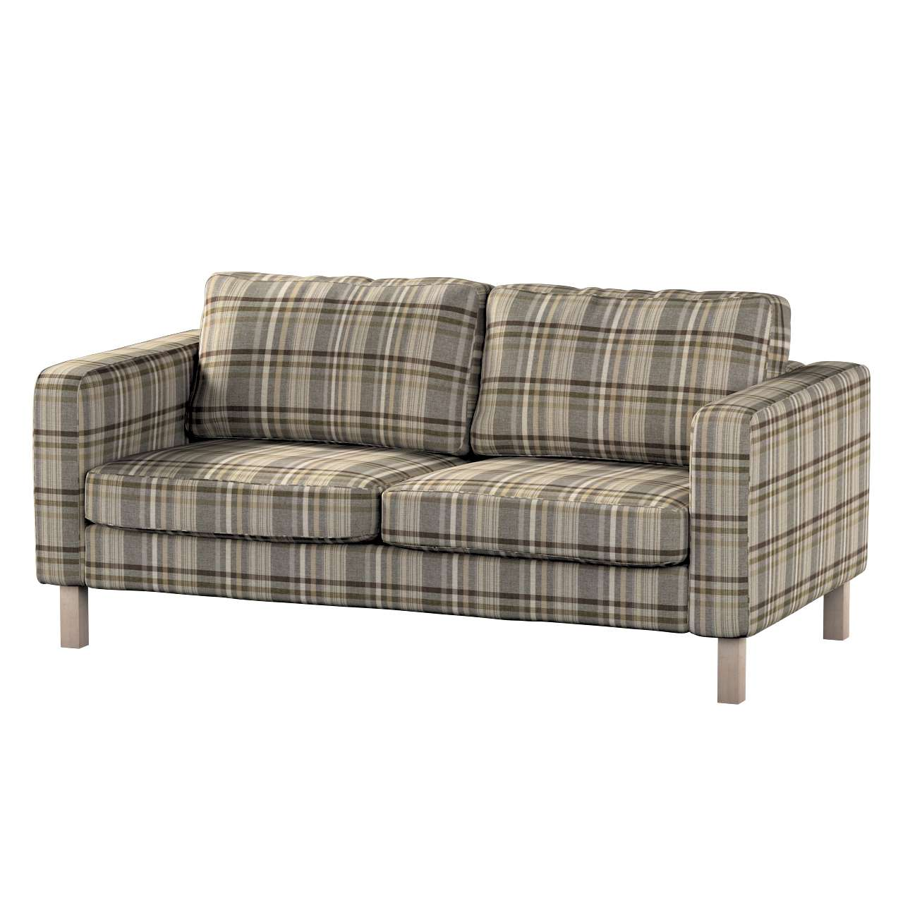 Pokrowiec na sofę Karlstad 2-osobową nierozkładaną krótki w kolekcji Edinburgh, tkanina: 703-17