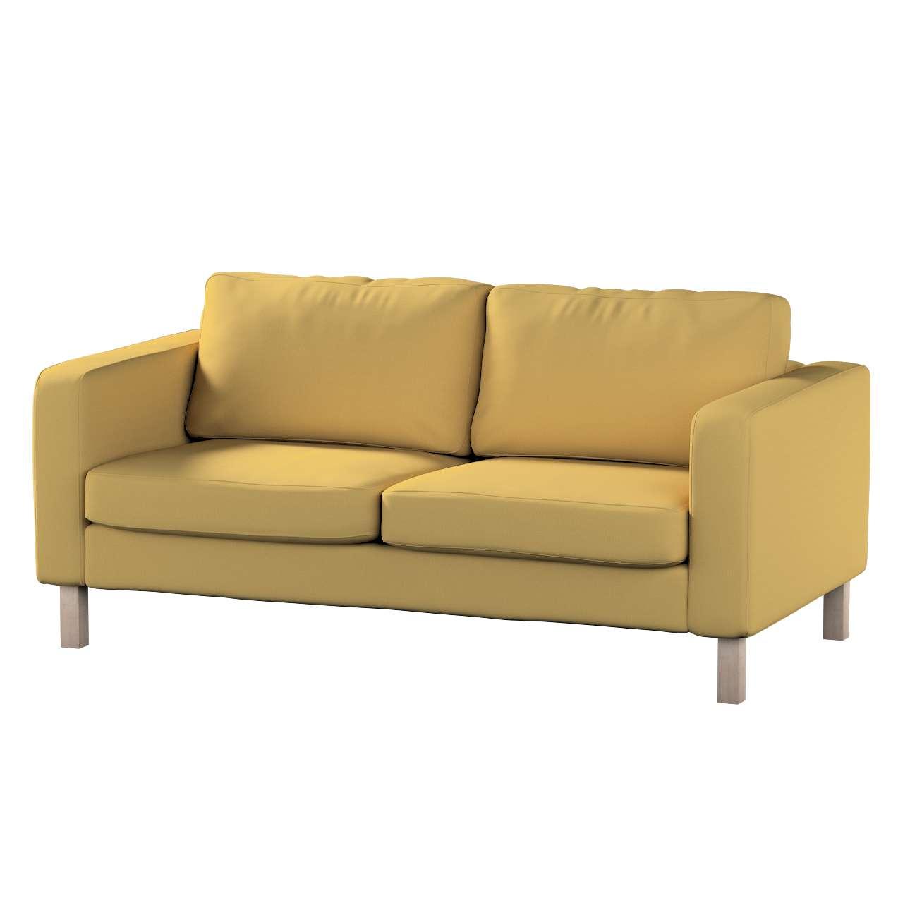 Pokrowiec na sofę Karlstad 2-osobową nierozkładaną krótki w kolekcji Cotton Panama, tkanina: 702-41